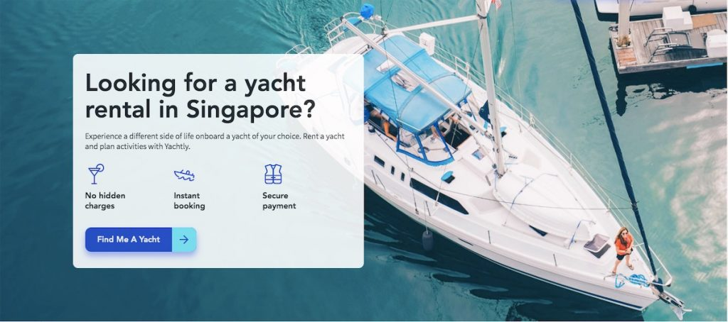 yachtly home page