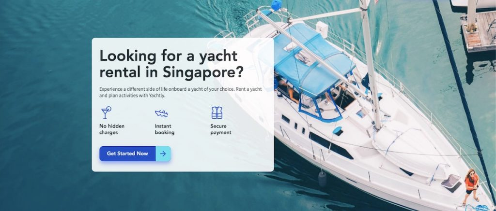 Banner image in yachtly homepage